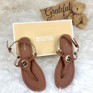🆕 {michael kors} brown leather sandals • NEW •